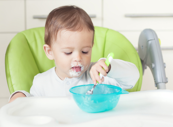 Weaning: Gradual introduction of creamy and other solid food to a baby's diet