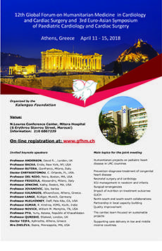 12th Global Forum on Humanitarian Medicine in Cardiology and Cardiac Surgery and 3rd Euro-Asian Symposium of Paediatric Cardiology and Cardiac Surgery